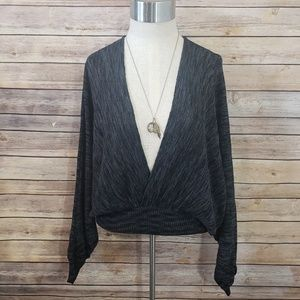 🌿Free People V-Neck Drapped Sweater Size XS🌿